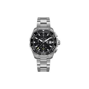 Aquaracer Chronograph Watch with Black Dial