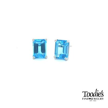 Blue Topaz Studs