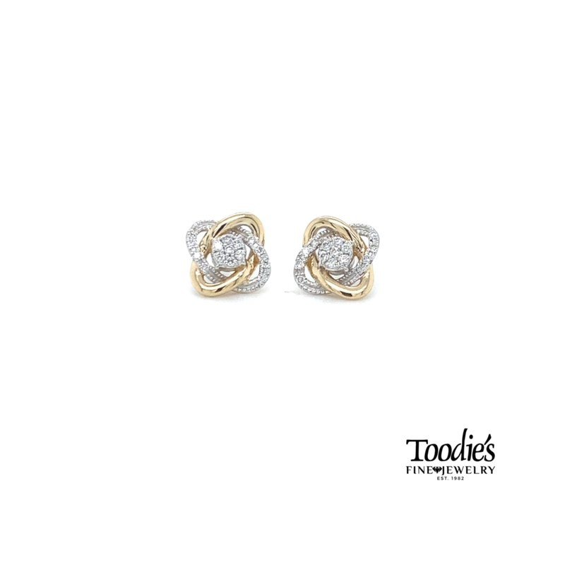 Toodie's Signature Fashion Love Knot Studded Earrings