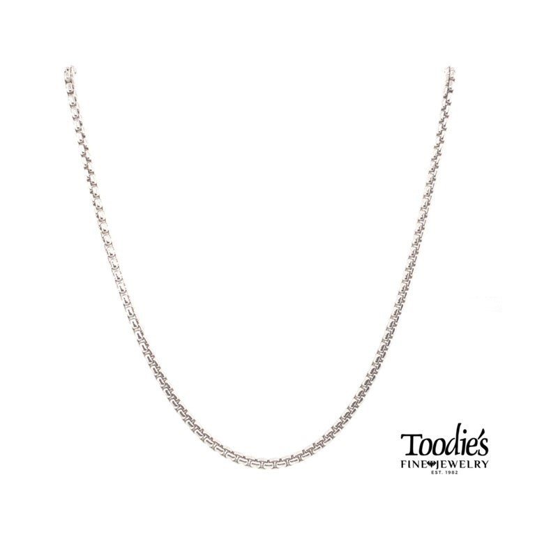 """Phillip Gavriel 22"""" Comfort Fit Rounded Box Chain"""