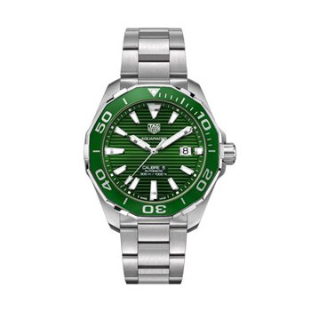 Aquaracer Automatic Watch with Green Dial