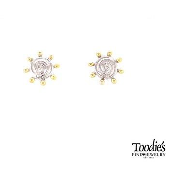 Sun Swirl Studded Earrings