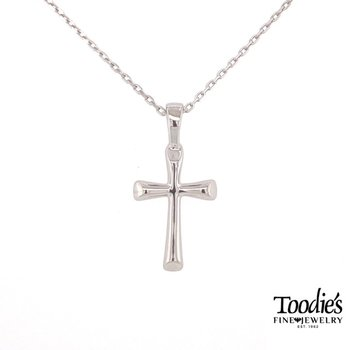 Round Flaired Cross Necklace