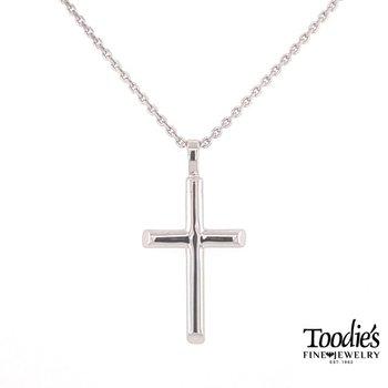 Half Round Cross Necklace