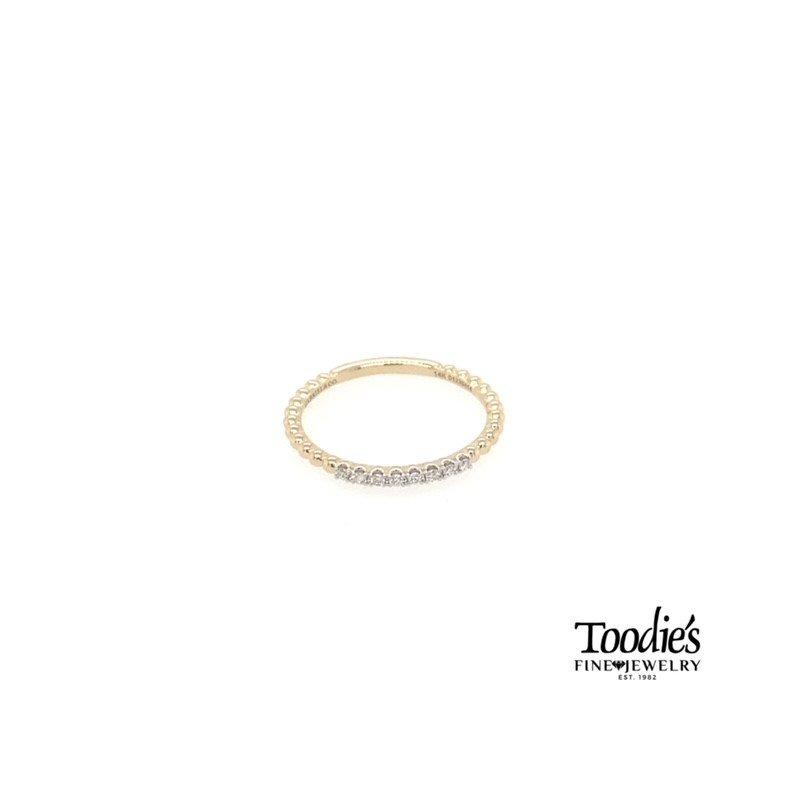 Gabriel Fashion Diamond Stackable Beaded Ring