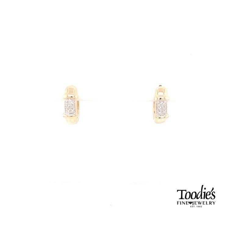 Toodie's Signature Fashion Gold Diamond Hoop Earrings