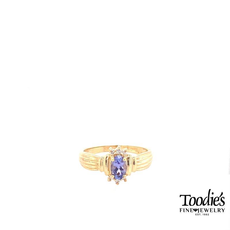 Toodie's Signature Fashion Oval Tanzanite Ring