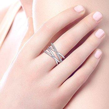 White Sapphire Criss-Cross Ring