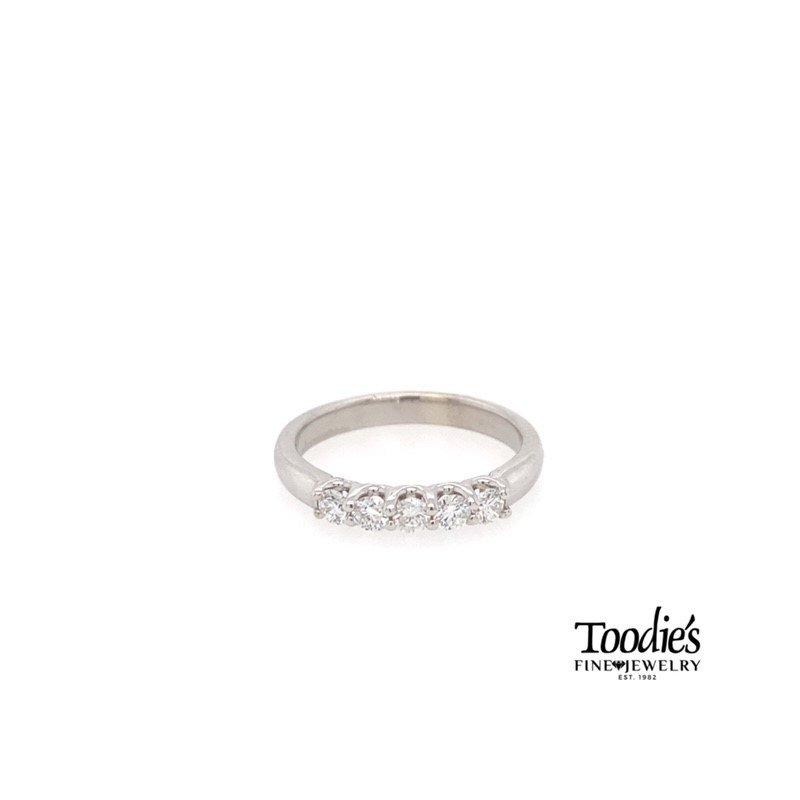 "Toodie's Signature Fashion Five Stone ""U"" Shaped Diamond Band"