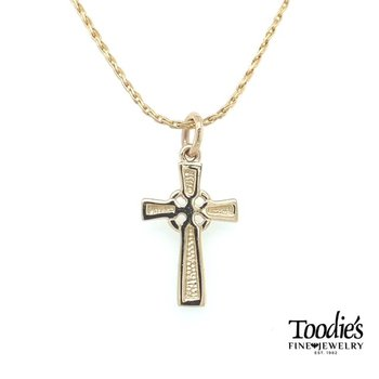Yellow Gold Celtic Cross and Chain