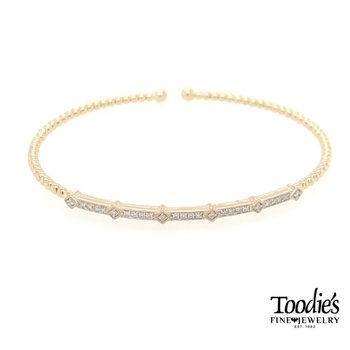 Diamond Bangle Bar Bracelet