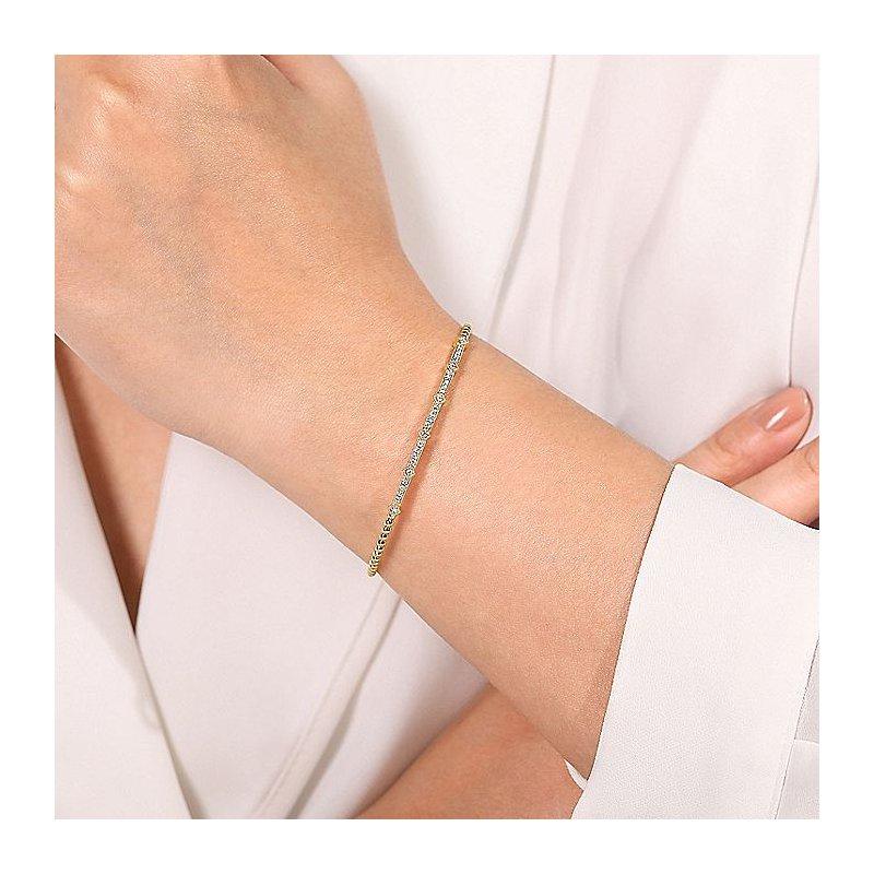 Gabriel Fashion Diamond Bangle Bar Bracelet