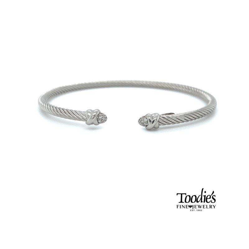 Phillip Gavriel Italian Cable Diamond Bracelet