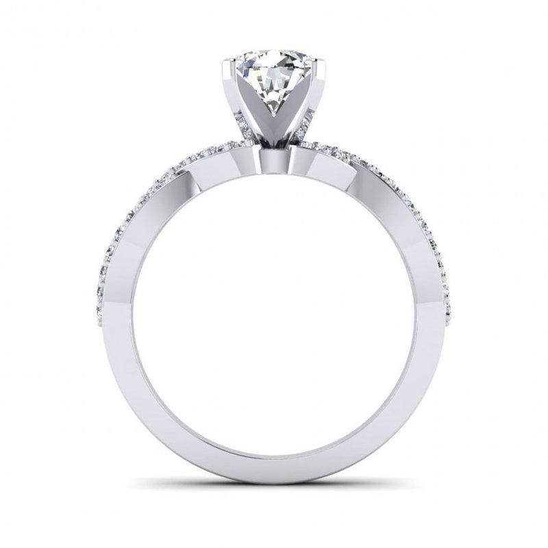Toodie's Bridal Ribbon Style Diamond Design Engagement Ring