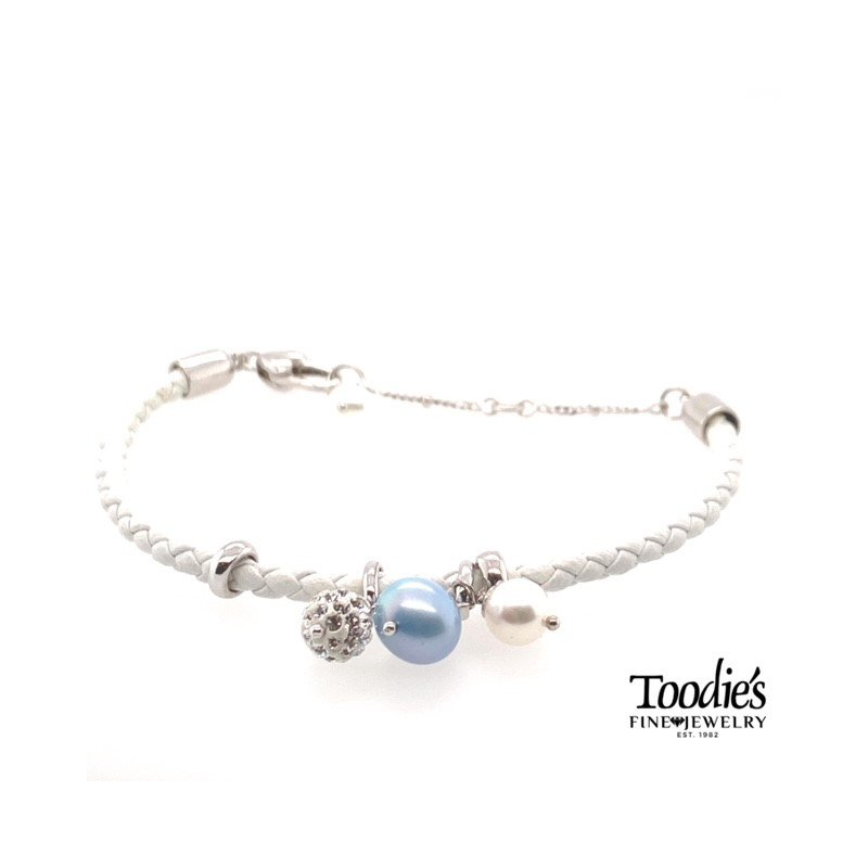 Toodie's Signature Fashion Pearl And Crystal Ball Bracelet