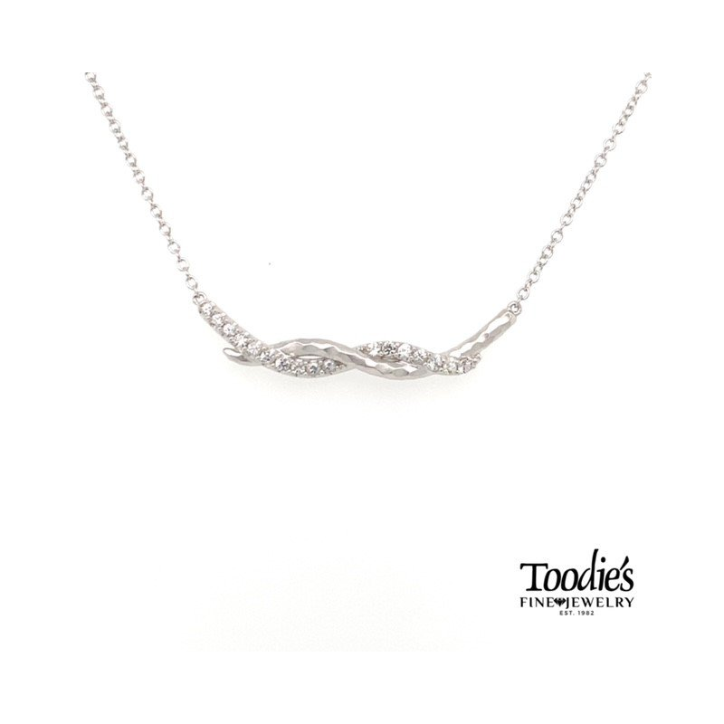 Gabriel Fashion Twisted Bar Necklace