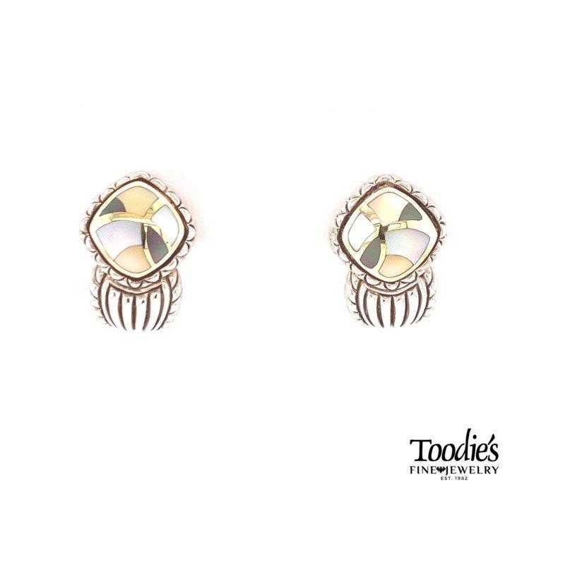 Asch Grossbardt Designs Multi Color Mother Pearl Earrings