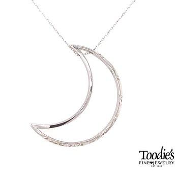 Diamond Crescent Moon Pendant