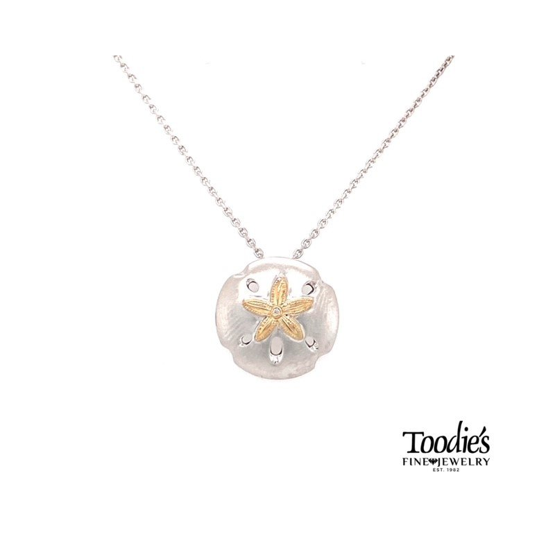 Penny James Jewelry Sand Dollar Pendant Necklace