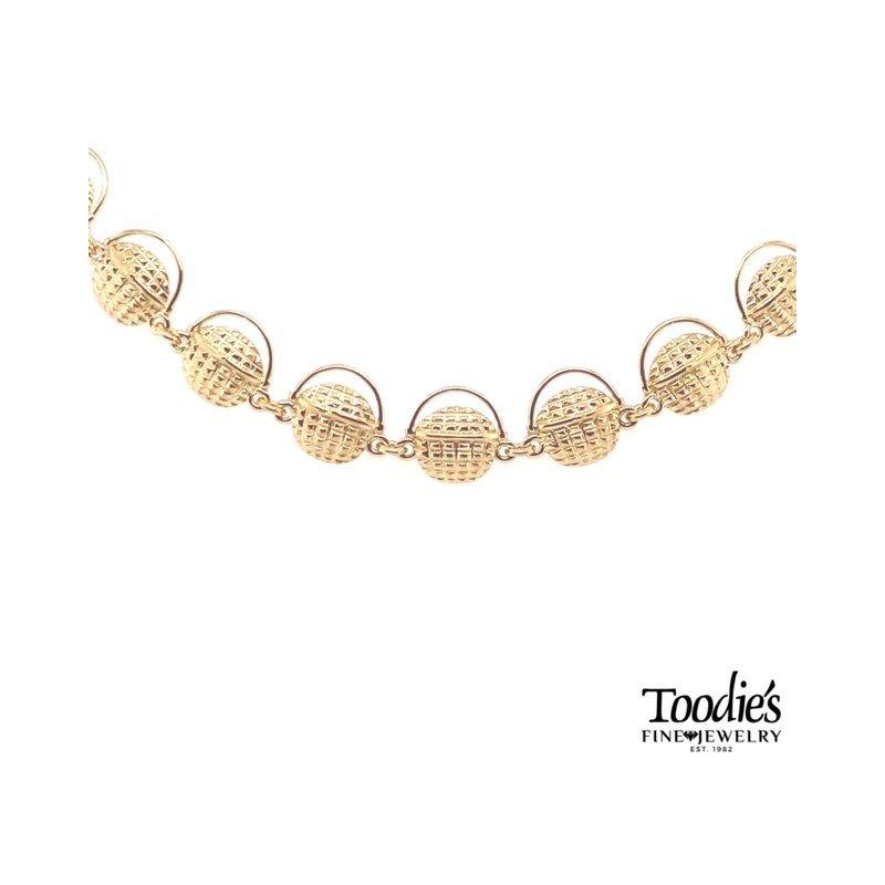 Toodie's Signature Fashion Gold Nantucket Basket Bracelet