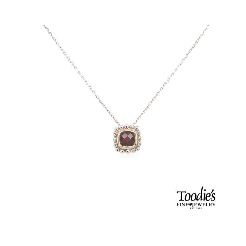 Phillip Gavriel Garnet Pendant Necklace