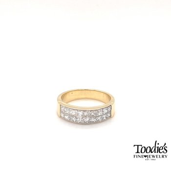 Diamond Invisible Set Princess Cut Ring