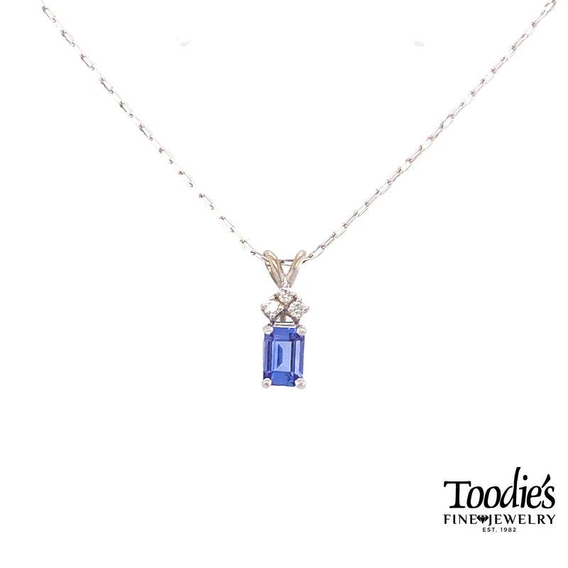 Toodie's Signature Fashion White Gold Tanzanite And Diamond Necklace