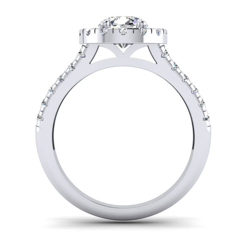 Toodie's Bridal Split Shank Diamond Halo Engagement Ring