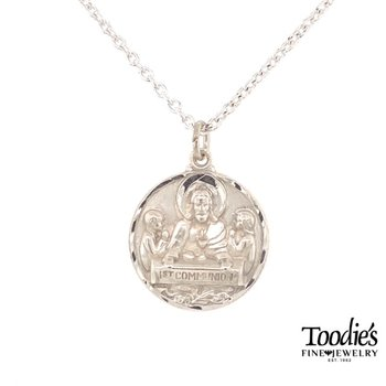 """""""First Communion"""" Medallion Necklace"""