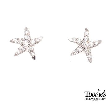 Toodies Signature Diamond Starfish Earrings