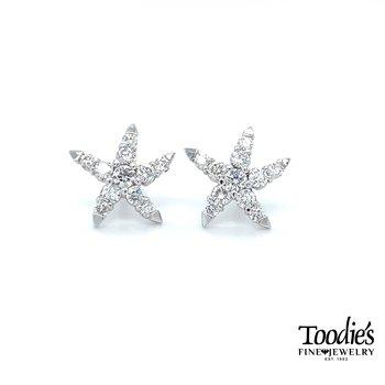 Toodies Signature Diamond Starfish Earrings