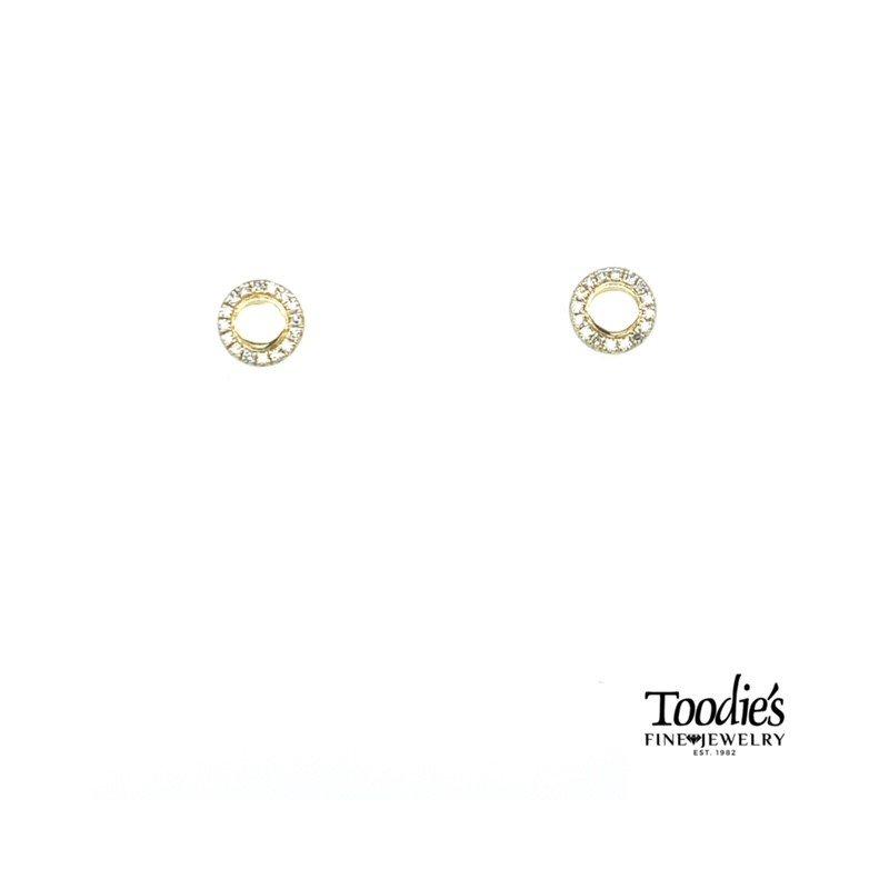 Shy Creation Circle Diamond Stud Earrings