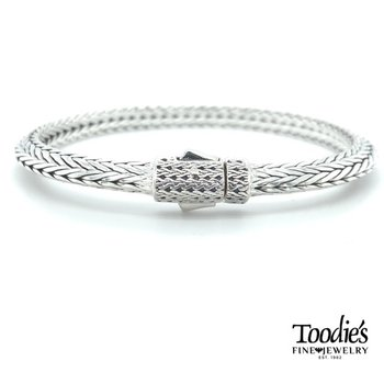 Classic Woven Silver Bracelet
