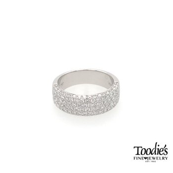 Diamond Multi-Row Micro Pave Ring