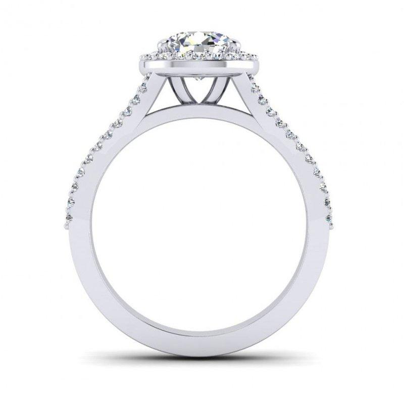 Toodie's Bridal Mini-Split Diamond Halo Engagement Ring