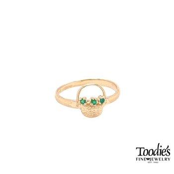 Nantucket Basket Emerald Ring