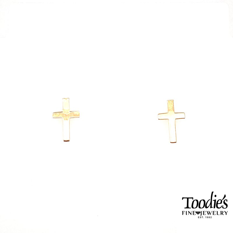 Toodie's Signature Fashion Gold Polished Cross Earrings