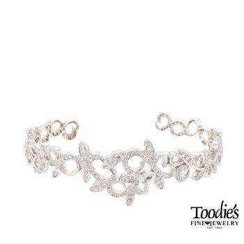 Diamond Tiara Cuff Bracelet