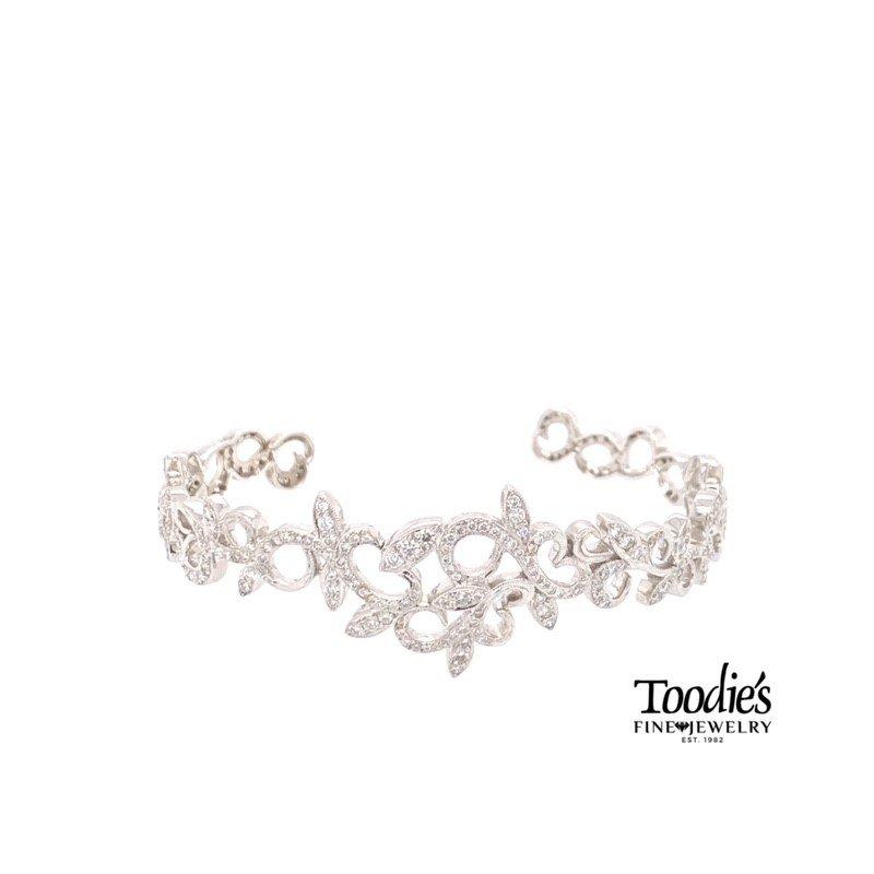 Toodie's Signature Fashion Diamond Tiara Cuff Bracelet