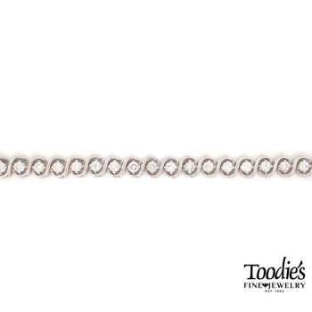 """S"" Diamond Tennis Bracelet"