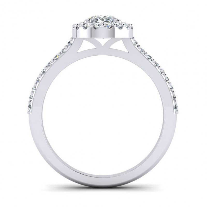 Toodie's Bridal Oval Shaped Diamond Halo Design Engagement Ring