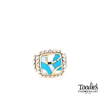 Turquiose Inlaid Style Fashion Ring