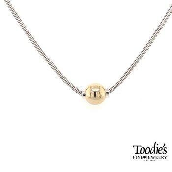 Cape Cod Gold Single Ball Necklace