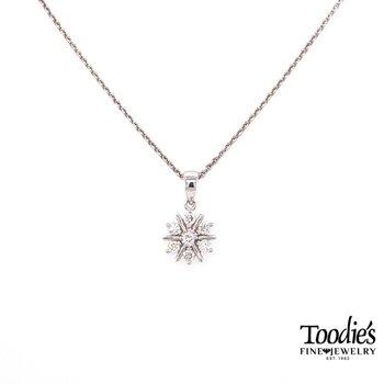 Mini Starburst Design Diamond Pendant
