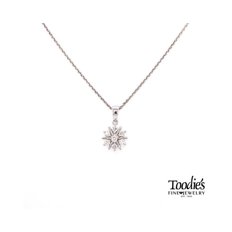 Toodie's Signature Fashion Mini Starburst Design Diamond Pendant