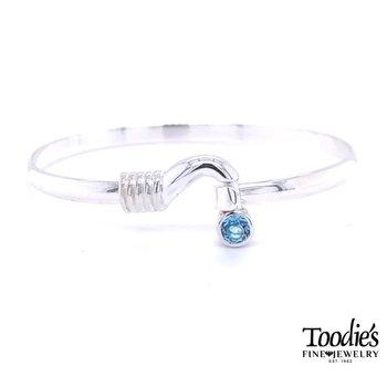 Hook and Blue Topaz Bracelet