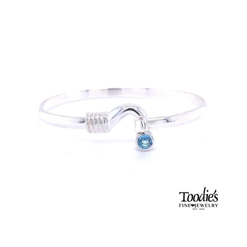 Toodie's Signature Fashion Hook and Blue Topaz Bracelet