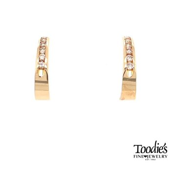Diamond Channel Set Earrings