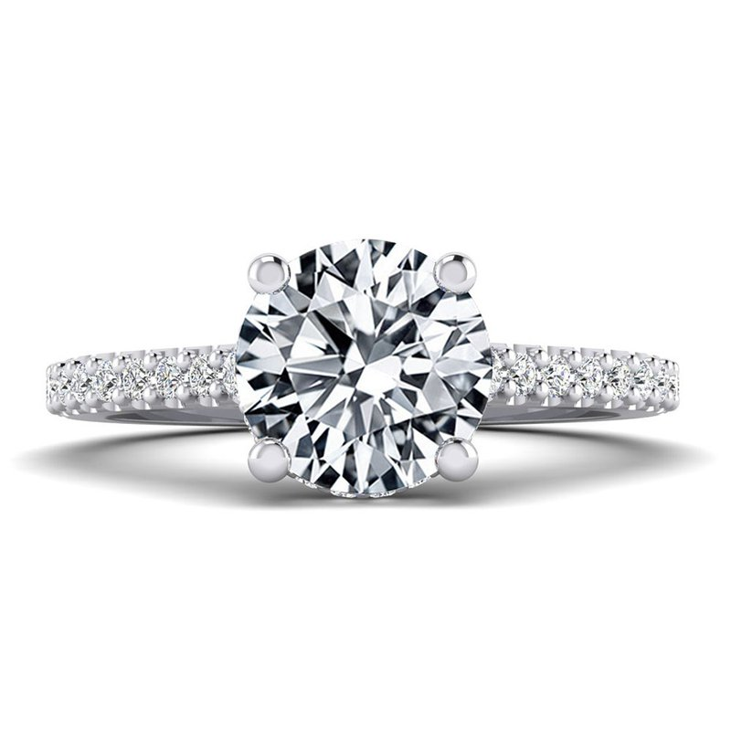 Toodie's Bridal Surprise Stone Hidden Halo Engagement Ring