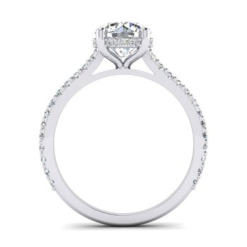 Surprise Stone Hidden Halo Engagement Ring